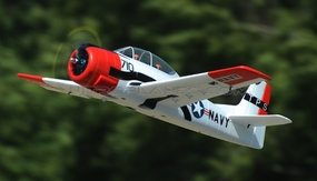 Dynam 5-CH T-28 Trojan 1270mm Brushless RC Warbird Plane (ARF Red)