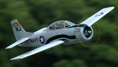 Dynam 5-CH T-28 Trojan 1270mm Brushless RC Warbird Plane w/ Retracts (ARF Grey)