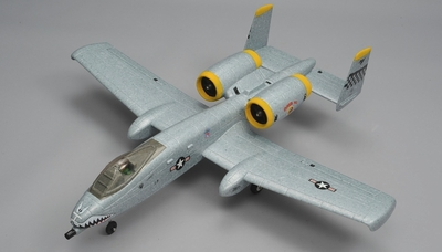 Dynam A-10 Thunderbolt II Twin 64mm EDF Jet with Retracts RC 5 Channel Almost Ready to Fly 1080mm Wingspan (Grey) RC Remote Control Radio