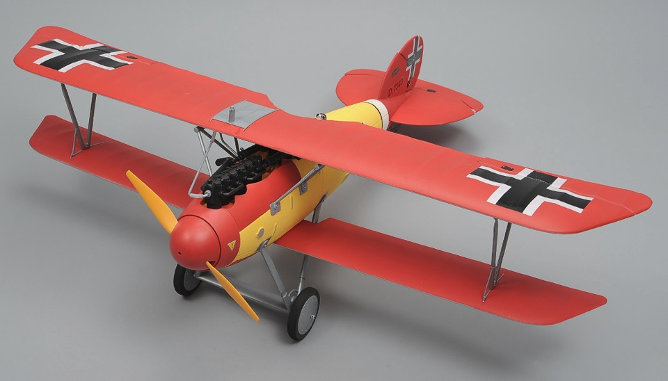 Dynam Albatros 4 Ch Remote Controlled Rc Bi Plane 1270mm Fighter Aircraft 2 4ghz Ready To Fly Rc