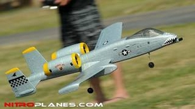 Dynam Dual 64MM A-10 Thunderbolt II EDF Jet ARF Receiver-Ready w/ Brushless Motor + ESC (Grey) RC Remote Control Radio