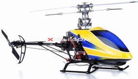 Dynam E-Razor 250 Pro Edition w/ CNC Upgraded Rotor Head RTF (Blue)