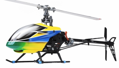 Dynam E-Razor 450 Flybarless Metal 2.4ghz Ready to Fly RC 6 Channel Helicopter (Yellow) RC Remote Control Radio