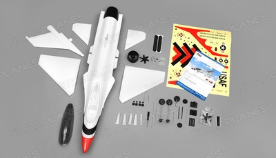 Dynam F16 4 Channel 64mm Electric Ducted Fan Jet Plane Kit RC Remote Control Radio