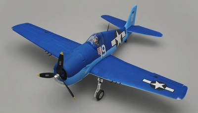 Dynam F6F Hellcat RC 5 Channel Warbird Almost Ready to Fly WingSpan 1270mm RC Remote Control Radio