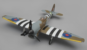 Dynam Hawker Tempest 5 Channel RC Warbird RTF 1250mm Wingspan 2.4G RC Remote Control Radio