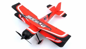 "Dynam Peaks 42"" RC 4 Channel 3D Bi-Plane ARF w/ Brushless Motor + ESC + Servos (Red)"