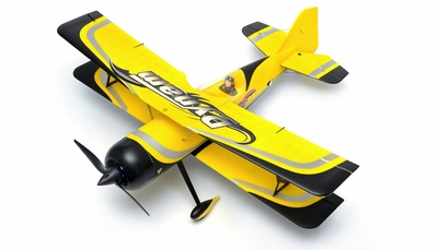 "Dynam Peaks 42"" RC 4 Channel 3D Bi-Plane Kit (Yellow) RC Remote Control Radio"