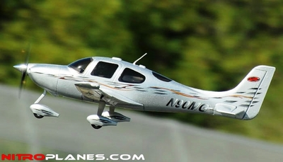 Dynam SR Trainer Brushless Motor/ ESC ARF Receiver-Ready Airplane (Silver) RC Remote Control Radio