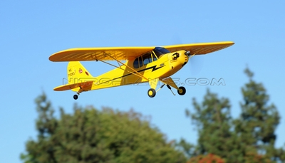 Dynam Super Detail  Piper J3 Cub 1245mm RC ARF Almost Ready to Fly w/ Brushless Motor/ ESC (Yellow)
