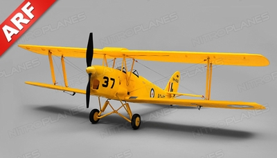 Dynam Tiger Moth RC 4 Channel Bi-plane Almost Ready to Fly  1270mm Wingspan