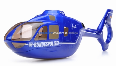 EC135 450 Pre-Painted Glass Fiber Fuselage BUNDESPOLIZEI Style (Blue)