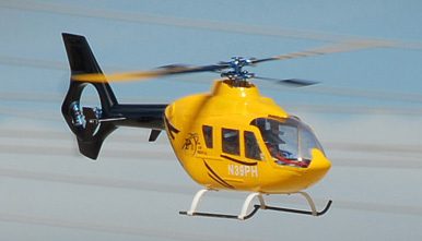 EC135 450� Pre-Painted Glass Fiber Fuselage for 450 Size Helicopters Yellow/Black