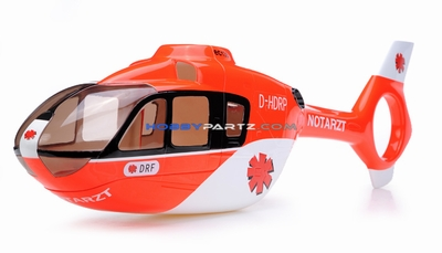 EC135 450 Pre-Painted Glass Fiber Fuselage Style (Red)