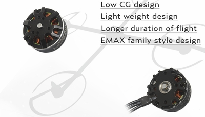 EMAX MT2808 660KV Brushless Motor for Multirotors (Plus Thread)