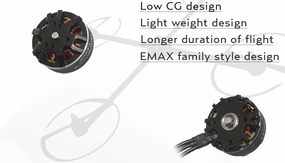EMAX MT2808 850KV Brushless Motor for Multirotors (Plus Thread)