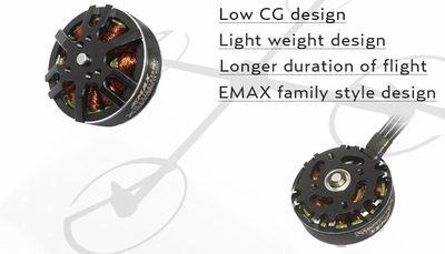 EMAX MT3506 650kv Brushless Motor for Multirotors (CCW Thread)