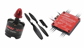 EMAX Quadcopter 450 Complete Motor Propellar ESC Combo (4x MT2213-920kv + 4x 25A Multirotor 4in1 ESC + 4 x 8045 CW, CCW Prop) Perfect for DJI F450