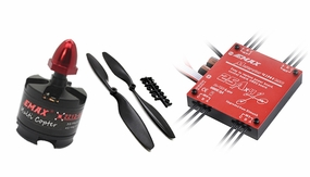 EMAX Quadcopter 450mm Combo 4 (4x MT2213-920kv + 4x 25A Multirotor 4in1 ESC + 4 pair x 1045 CW,CCW Prop)