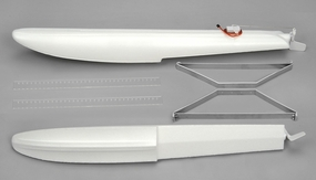 EPO Foam Floats with Dual Rudder System and Aluminum Struts