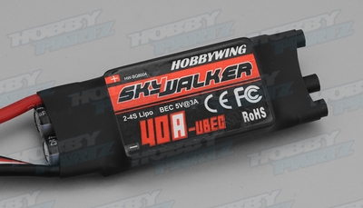 40A Hobbywing SkyWalker Brushless Electronic Speed Controllers