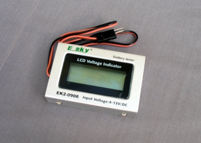 Esky LCD Battery Tester w/ LCD Voltage Indicator (4-13V/DV)