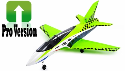 Exceed RC 2.4Ghz Concept X PRO Version 64mm Super Performance Brushless Ducted Fan RC Jet RTF w/ 4 Cell Lipo (Green) RC Remote Control Radio