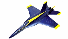 Exceed RC 4-CH 70mm  Angel F18C Radio Remote Control RC EDF Jet ARF (Blue) ExceedJet-RxR-06A05-F18-Blue