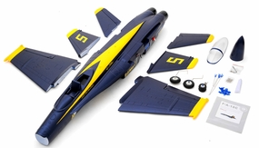 Exceed RC 4-CH 70mm  Angel F18C Radio Remote Control RC EDF Jet ARF (Blue)