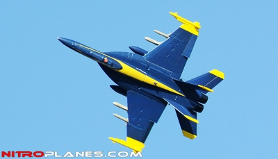 Exceed RC 4-CH 70mm Blue Angel F18 Radio Remote Control RC EDF Jet w/ Metal Electric Retract (Airframe Only)