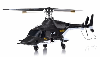 Exceed RC 4-CH MadHawk 300 RC Helicopter w/ 2.4G 2402D Devo LCD Transmitter (Black RTF)