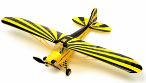 Exceed RC 4 Channel J3 Piper Cub Ready to Fly Super Scale Airplane RTF w/ Brushless Motor/ESC/Lipo (Black) RC Remote Control Radio