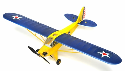 Exceed RC 4 Channel J3 Piper Cub Ready to Fly Super Scale Airplane RTF w/ Brushless Motor/ESC/Lipo (Blue)