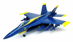 Exceed RC 9-CH 90MM F-18 Blue Angel Extreme Scale Jet w/Brushless Motor/ESC ARF + 3D Thrust Vector RC Remote Control Radio