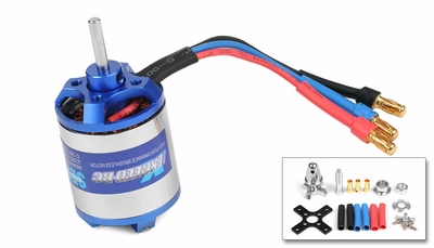 Exceed RC Brushless Motor 1050kv  17 Turn Rating for Airplanes