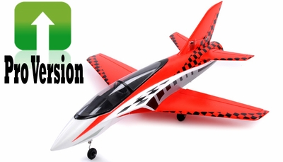 Exceed RC Concept X PRO Version 64mm Super Performance Brushless Ducted Fan RC Jet ARF Receiver Ready (Red) RC Remote Control Radio