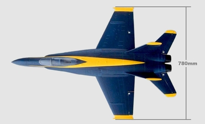 Exceed RC F-18C Replacement Parts [Blue Angel]