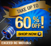 EXTRA 60% Off Exceed RC Motors. Limited Time Offer.