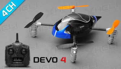 ExceedRC Ladybird V2 Devo 4 Ready to Fly RC Mini Quad 4 Channel (Blue)