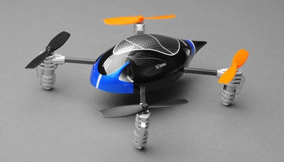 ExceedRC Ladybird V2 Devo 4 Ready to Fly RC Mini Quad 4 Channel (Blue) RC Remote Control Radio