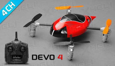 ExceedRC Ladybird V2 Devo 4 Ready to Fly RC Mini Quad 4 Channel (Red)