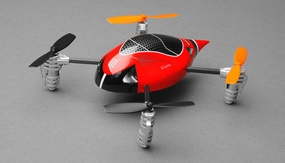 ExceedRC Ladybird V2 Devo 4 Ready to Fly RC Mini Quad 4 Channel (Red) RC Remote Control Radio