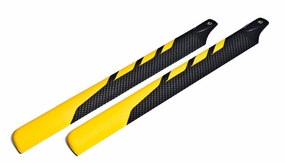 EXI-500 Carbon Fibre Main Blade for Electric 500 RC Helicopter (430mm-Yellow)