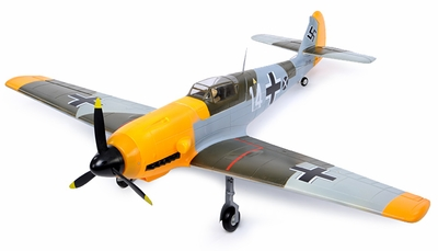 Extreme Detail 5-Channel AirField RC BF-109 Messerschmitt 1400MM Radio Control Warbird Plane EPO Foam Plane KIT Verison (Camo) RC Remote Control Radio