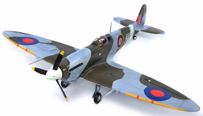 Extreme Detail 5-Channel AirField RC Spitfire 1400MM Radio Control Warbird Plane ARF Receiver-Ready w/ Brushless Motor/ESC *Super Scale* EPO Foam Plane + Electric Retracts (Camo)