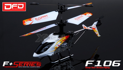 F106 4CH Infared RC Helicopter NEW with Gyro Radio Remote Control Mini Size (White)