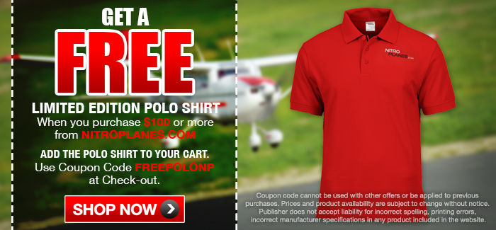 Free Limited Edition Polo Shirt on Orders of $100 or More. Code: FREEPOLONP
