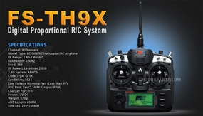 FS-TH9X 2.4GHz 9CH Transmitter - RC Helicopters/ Airplanes Transmitter Receiver
