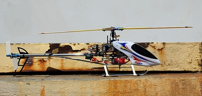 Fully-Loaded Walkera #60B V2 7-Channel Radio Controlled RC Helicopter w/ Brush Motor+ESC+LiPo & Head/Tail Aluminum/Metal CNC Upgrade & Fiber Blade