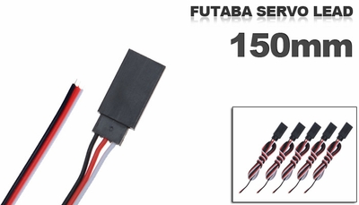 Futaba Servo lead 150mm (5 pcs)
